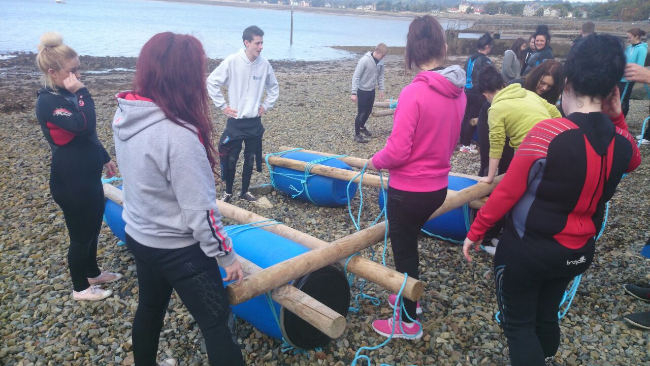 Adult-raft-building