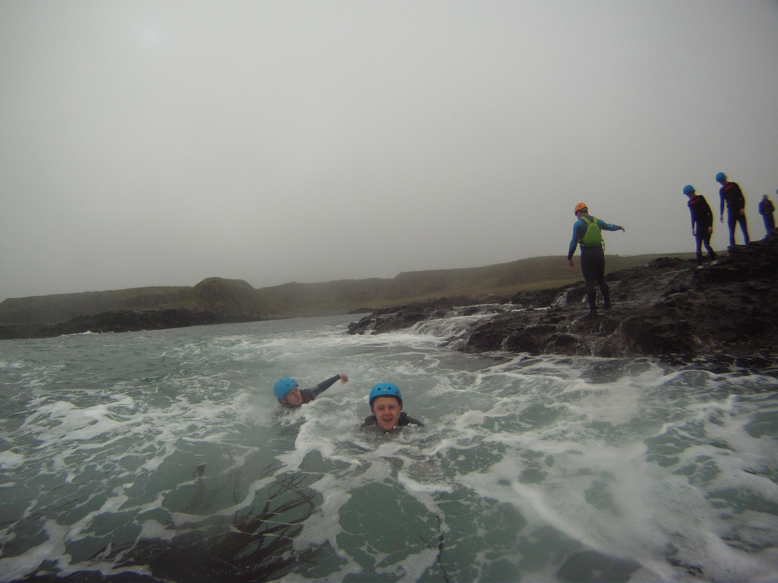 Coasteering-teambuilding