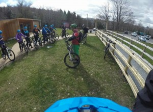Guided group mountain bike spins
