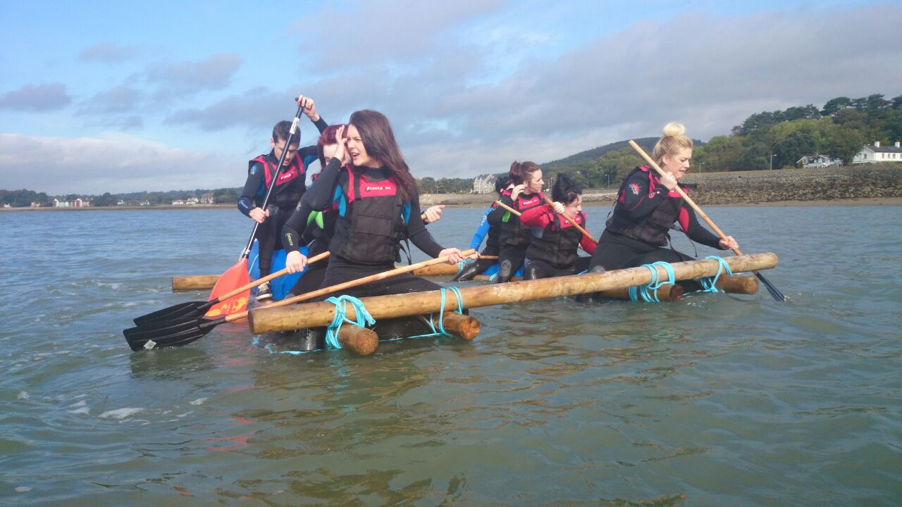 Hens-raft-building