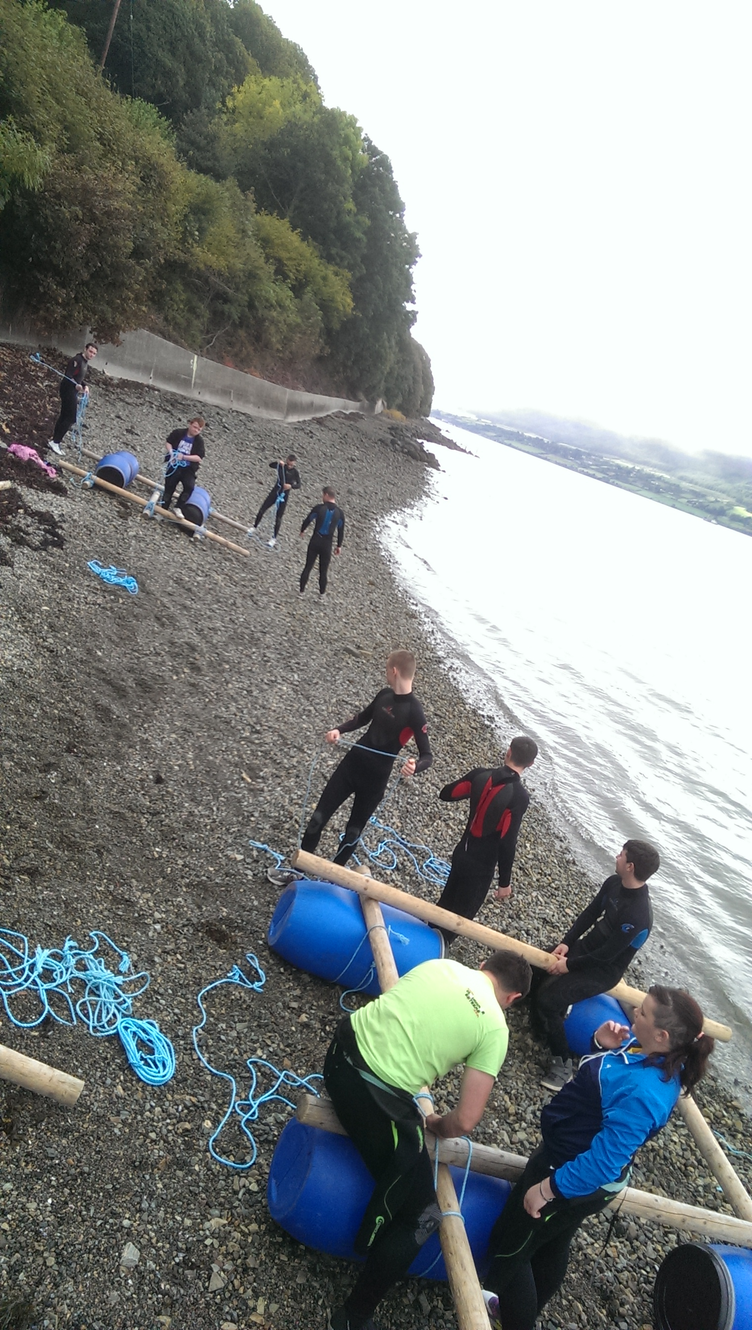 Raft-building-Northern-Ireland