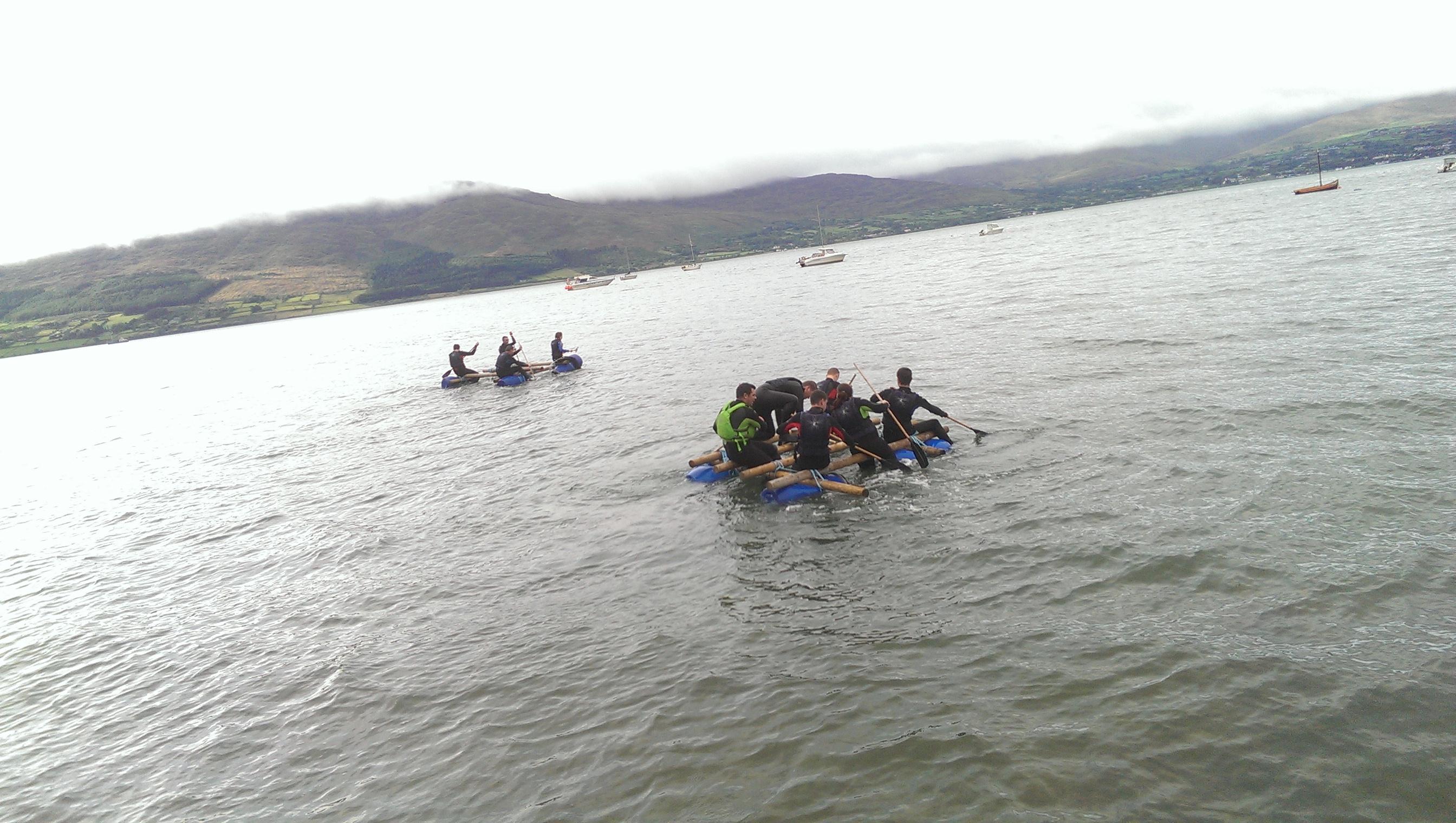 Raft-building-Rostrevor