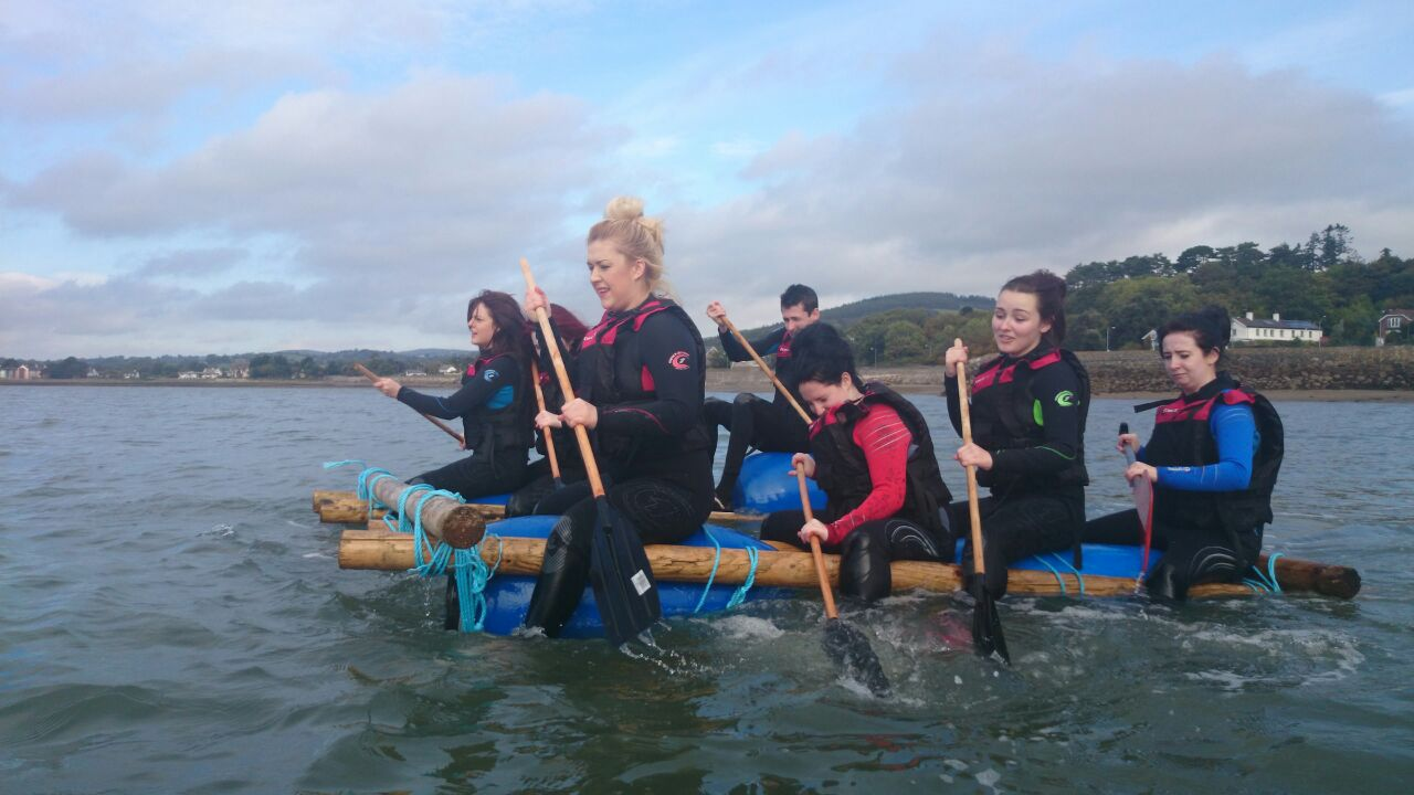 Youth-group-raft-building